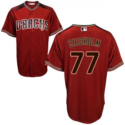 Men's Majestic Jazz Chisholm Arizona Diamondbacks Player Replica Red Cool Base Alternate Jersey